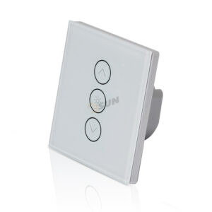 Intrerupator inteligent cu contact tactil (touch) si variator (dimmer), 2 canale – Model ES-WTWD-1