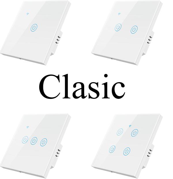intrerupatoare inteligente cu sau fara nul, WiFi, albe