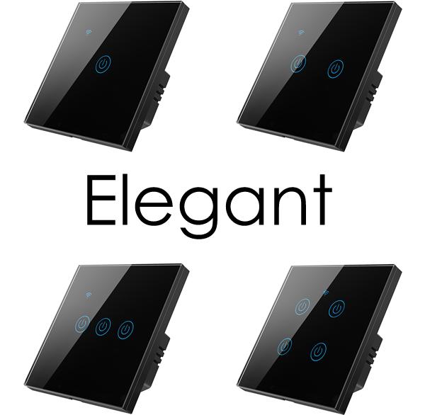 intrerupatoare inteligente cu sau fara nul, WiFi, negre