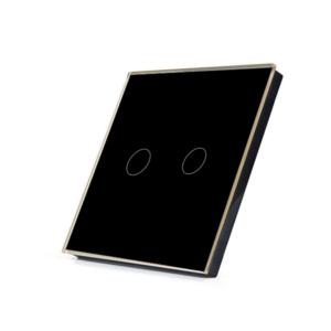 Telecomanda RF cu touch cu 2 canale, negru