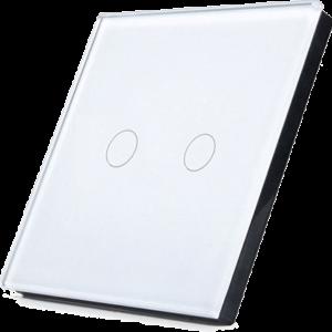 Telecomanda RF cu touch cu 2 canale, alb