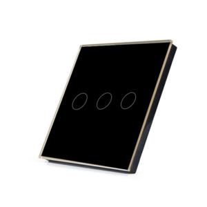 Telecomanda RF cu touch cu 3 canale, negru