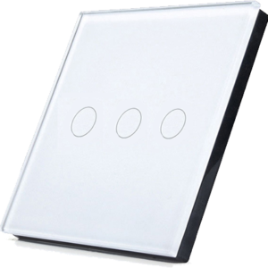 Telecomanda RF cu touch cu 3 canale, alb